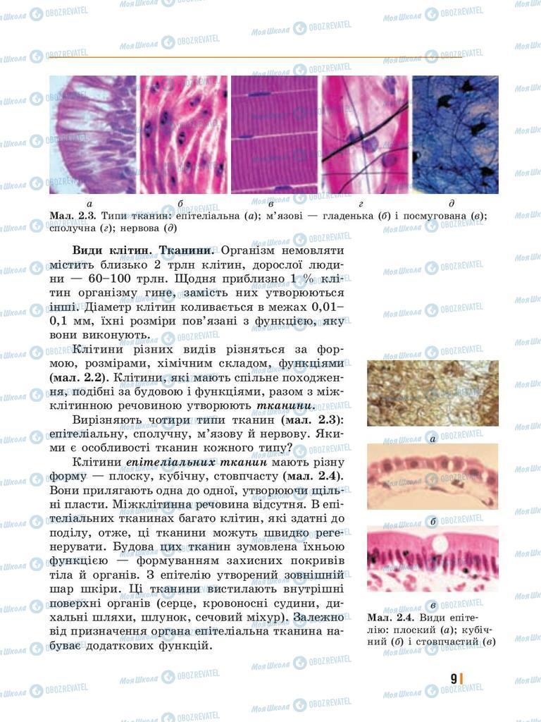 Підручники Біологія 8 клас сторінка 9