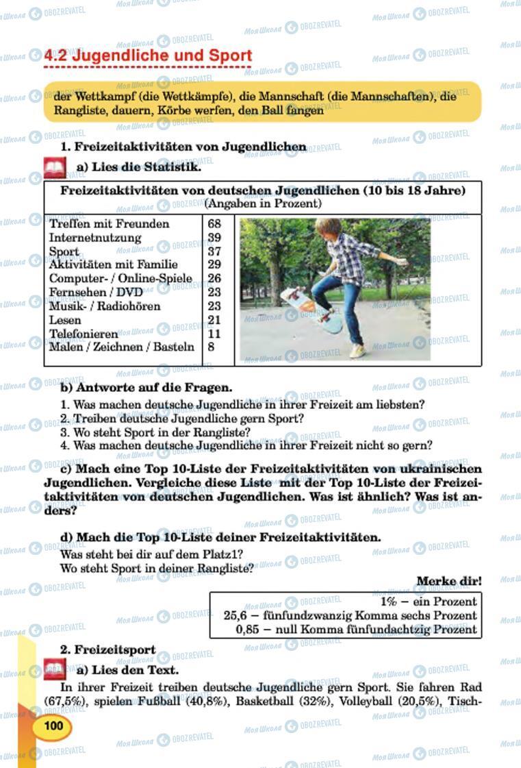 Підручники Німецька мова 7 клас сторінка 100