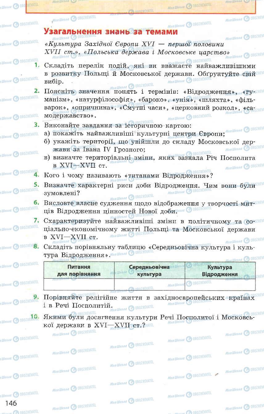 Підручники Всесвітня історія 8 клас сторінка  146