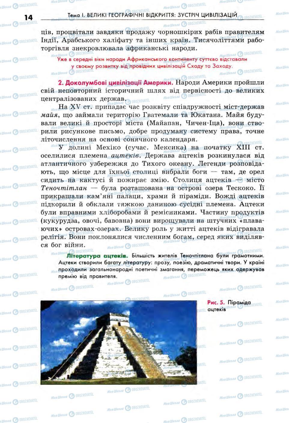 Учебники Всемирная история 8 класс страница 14
