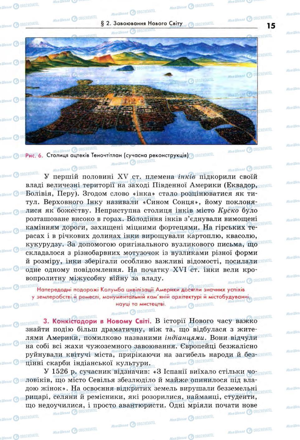 Підручники Всесвітня історія 8 клас сторінка 15