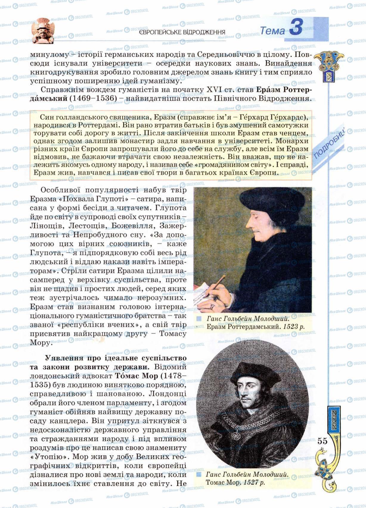 Підручники Всесвітня історія 8 клас сторінка 55