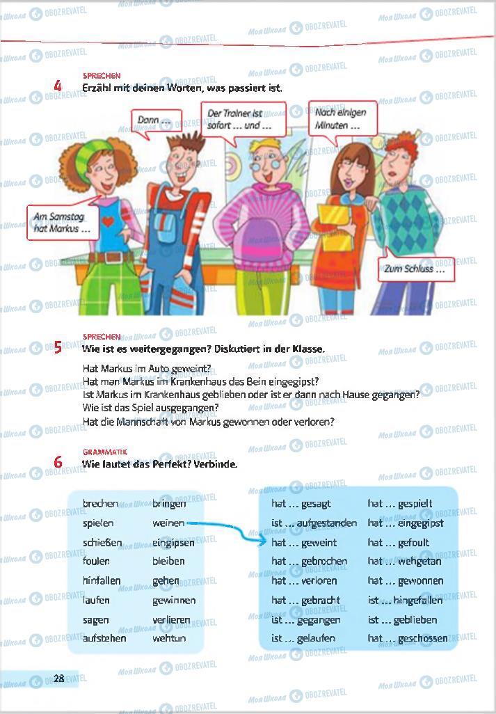 Підручники Німецька мова 7 клас сторінка 28