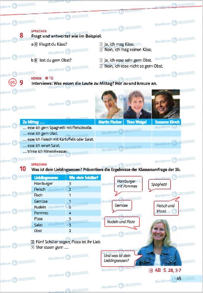 Підручники Німецька мова 7 клас сторінка 45