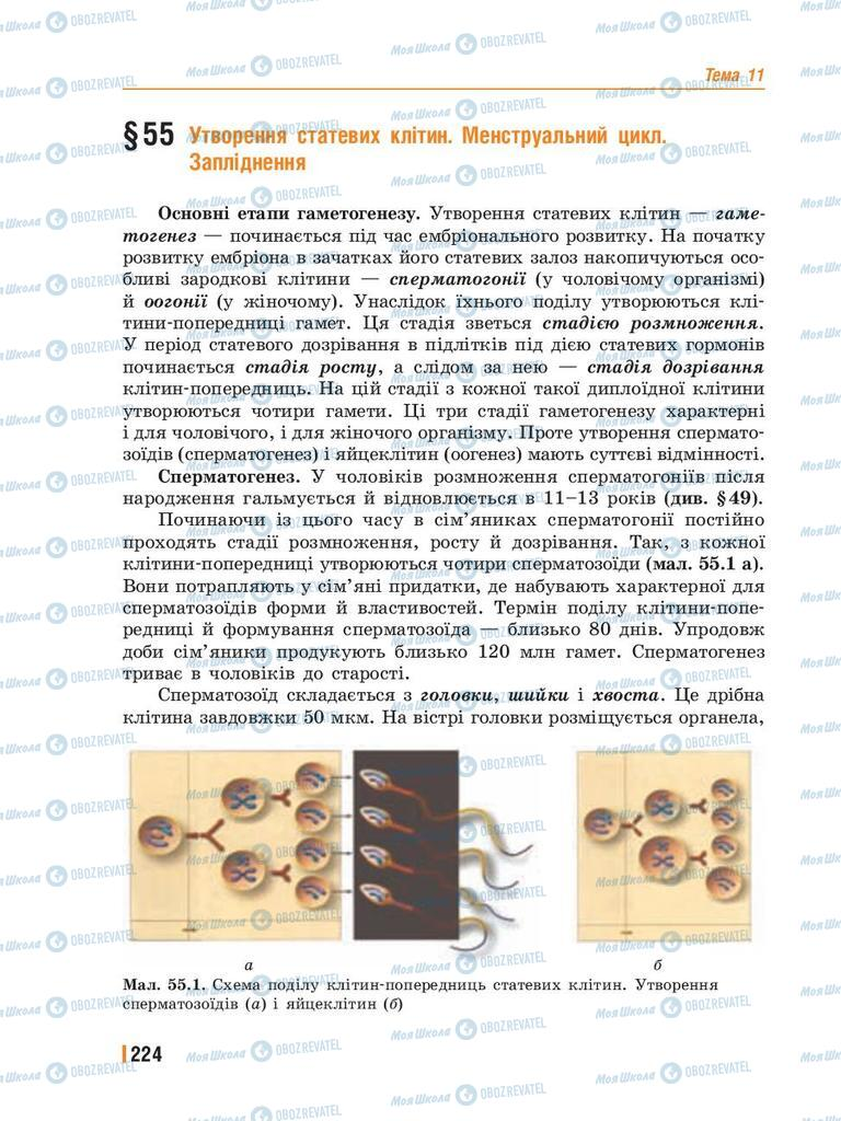 Учебники Биология 8 класс страница 224