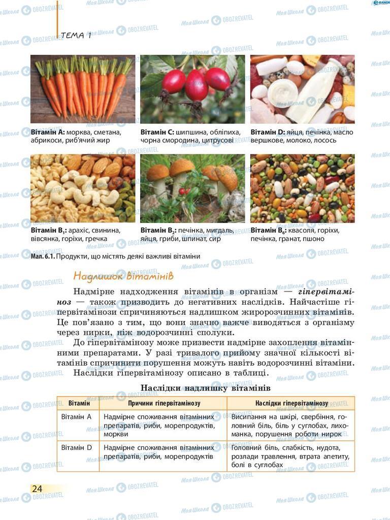 Підручники Біологія 8 клас сторінка 24