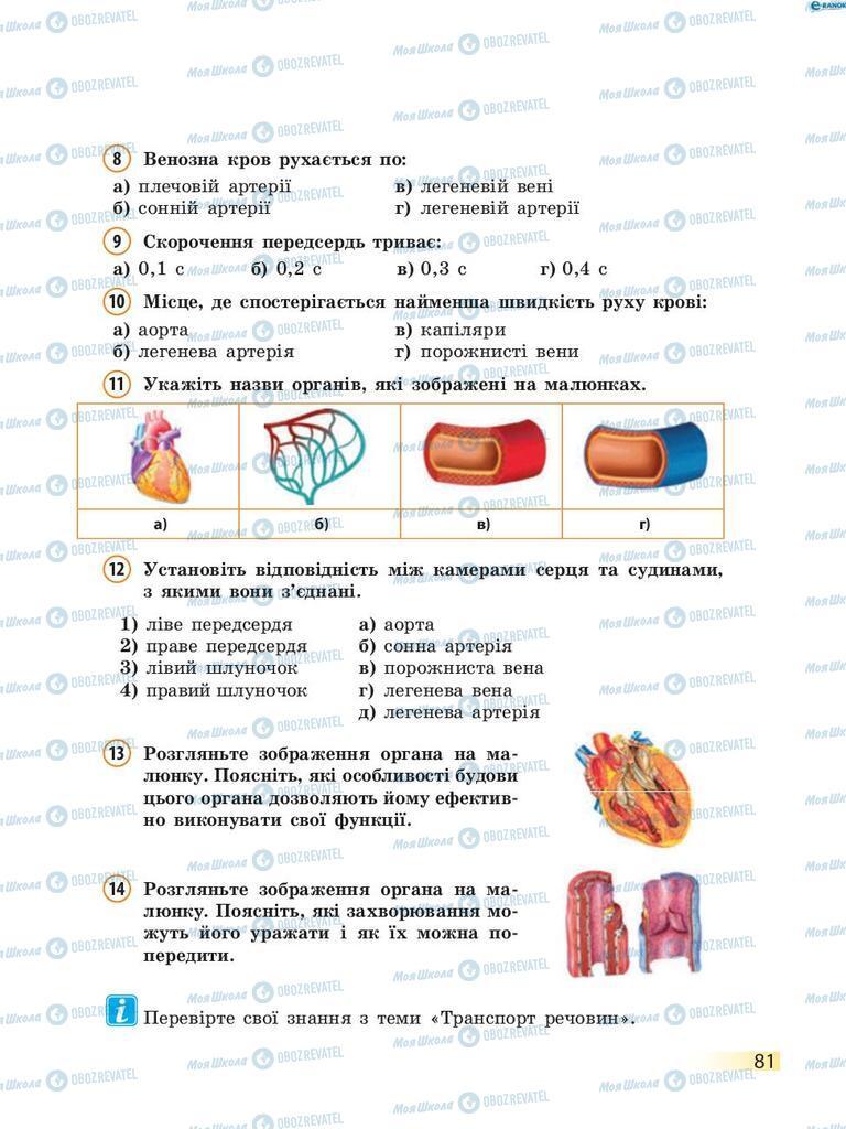 Учебники Биология 8 класс страница 81