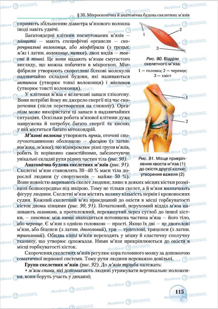 Учебники Биология 8 класс страница 115