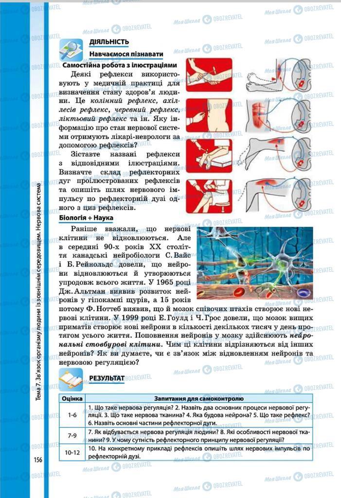 Учебники Биология 8 класс страница 156