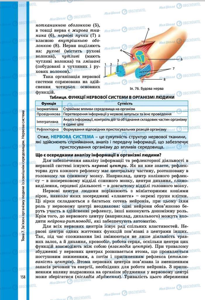 Підручники Біологія 8 клас сторінка 158