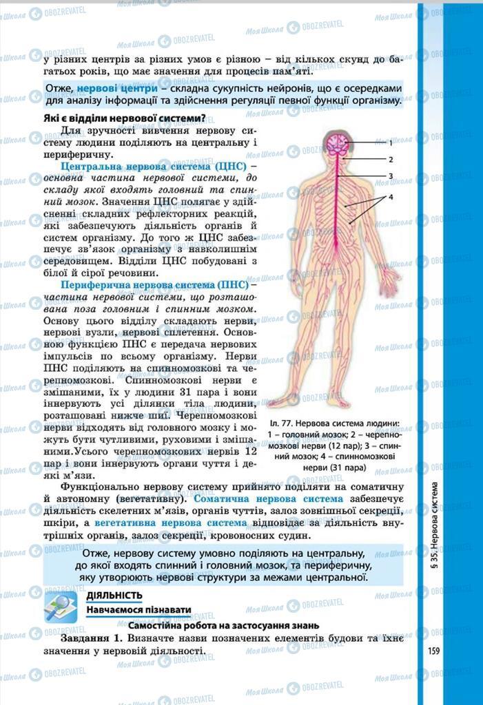 Підручники Біологія 8 клас сторінка 159