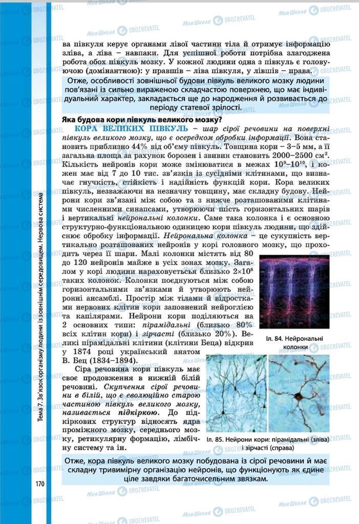 Учебники Биология 8 класс страница 170