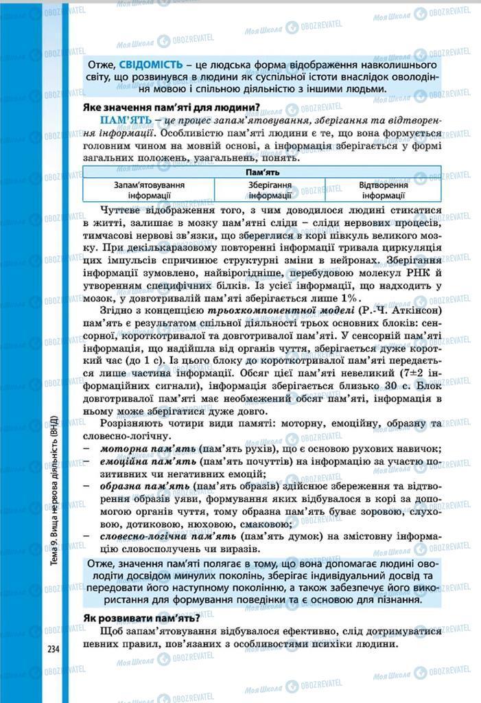 Учебники Биология 8 класс страница 234