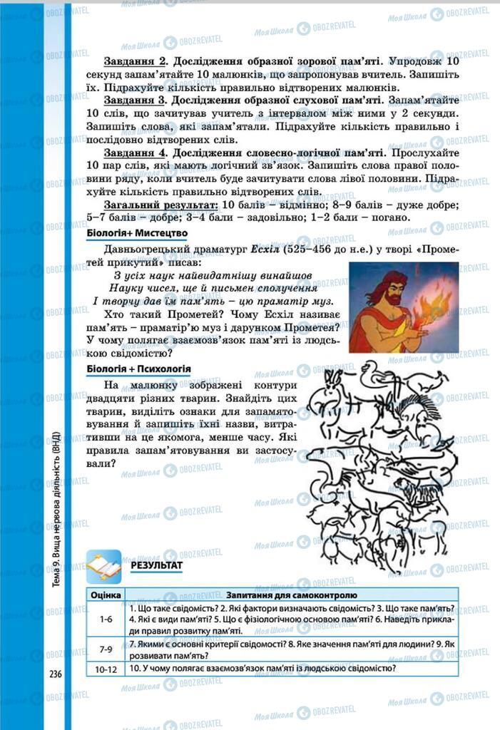 Підручники Біологія 8 клас сторінка 236