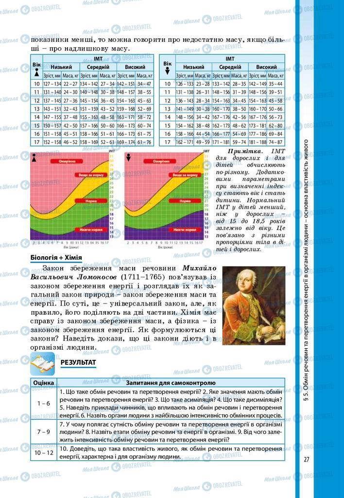 Підручники Біологія 8 клас сторінка 27