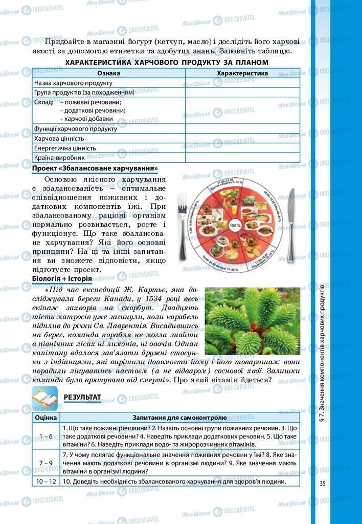Підручники Біологія 8 клас сторінка 35