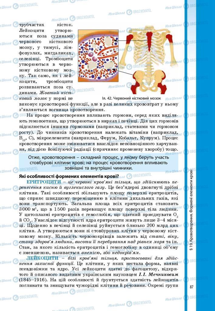 Учебники Биология 8 класс страница 87