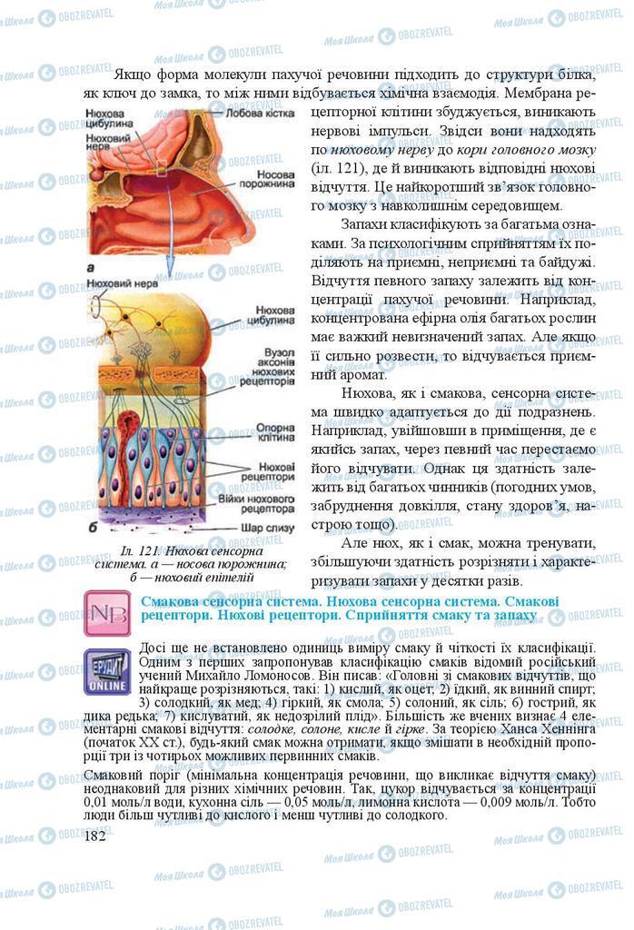 Підручники Біологія 8 клас сторінка 182
