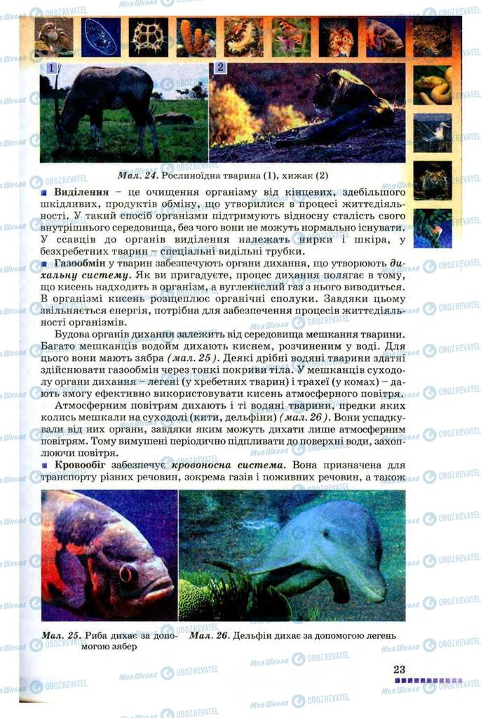 Підручники Біологія 8 клас сторінка 23