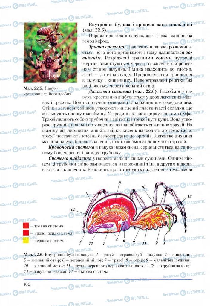 Підручники Біологія 8 клас сторінка 106