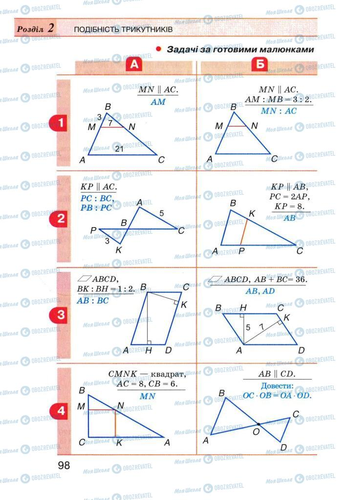 Учебники Геометрия 8 класс страница 98