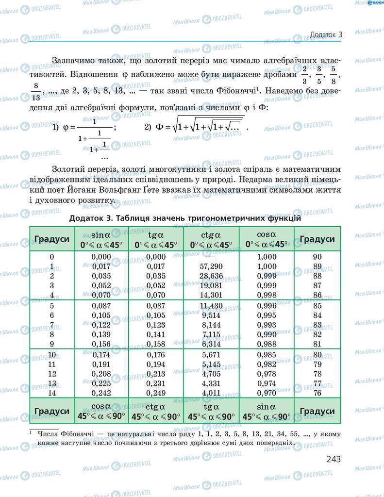 Учебники Геометрия 8 класс страница 243