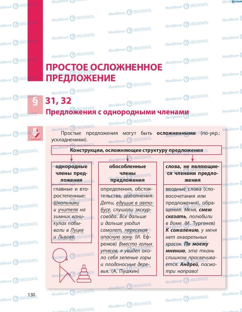 Учебники Русский язык 8 класс страница  130