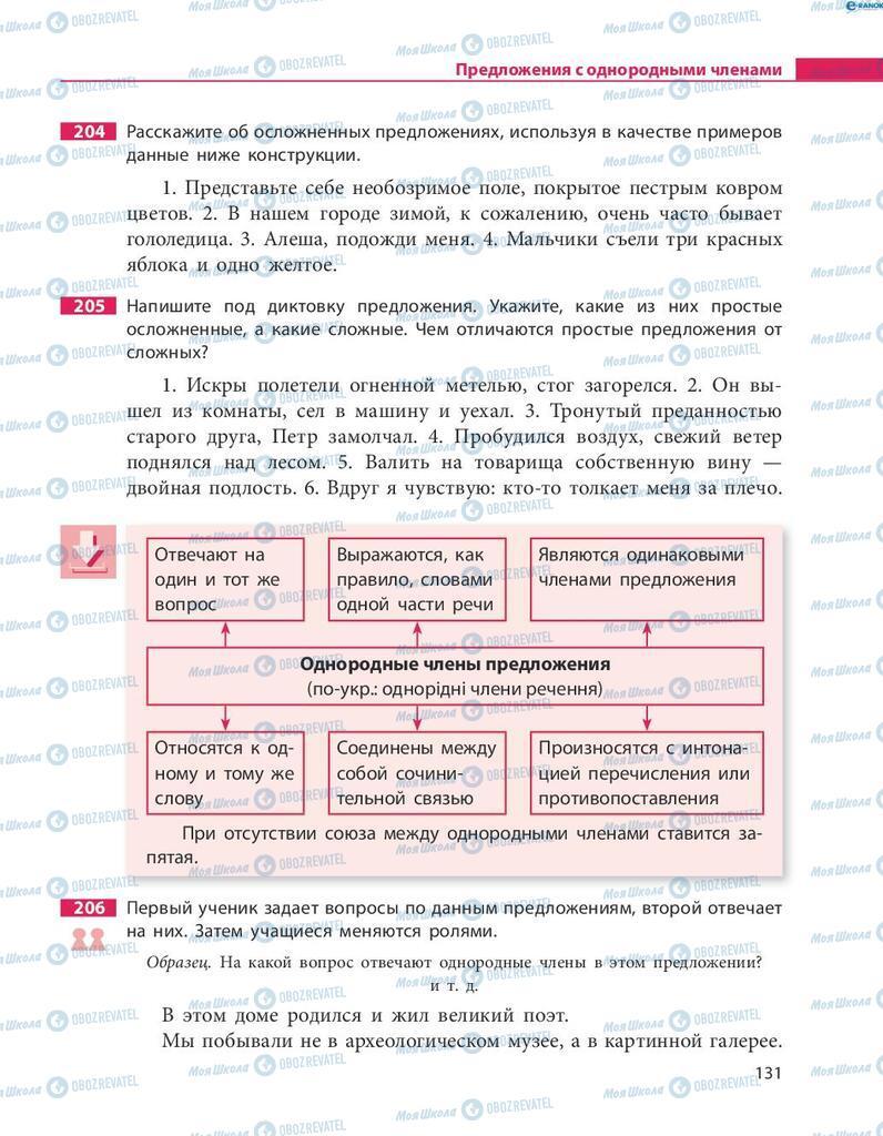 Учебники Русский язык 8 класс страница  131