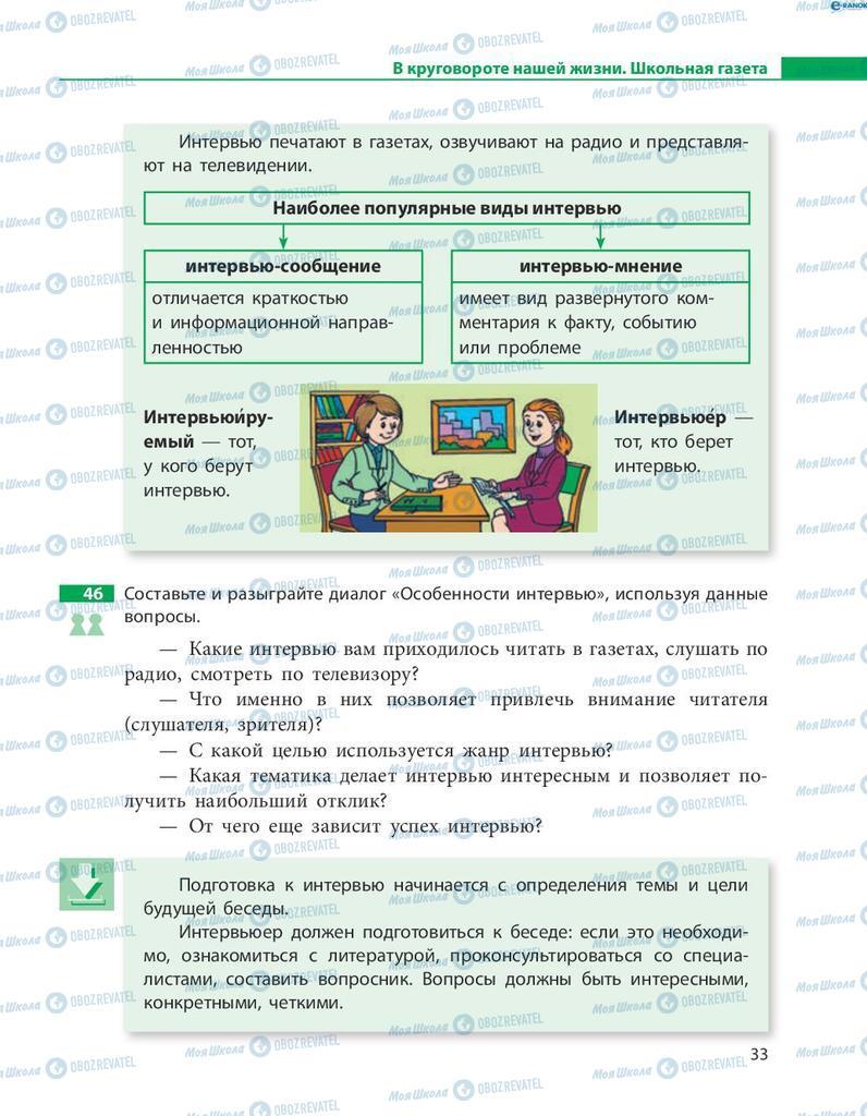 Учебники Русский язык 8 класс страница  33