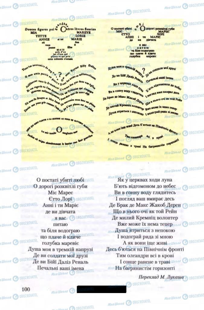 Учебники Зарубежная литература 11 класс страница 100