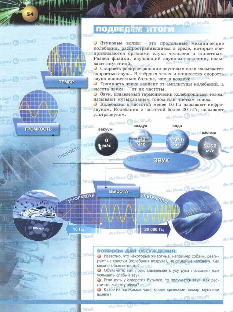 Учебники Физика 9 класс страница  54