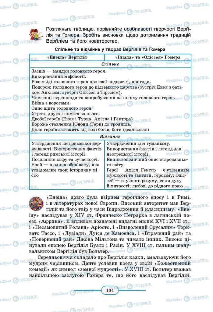 Учебники Зарубежная литература 8 класс страница 104