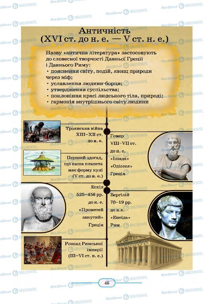 Підручники Зарубіжна література 8 клас сторінка 46