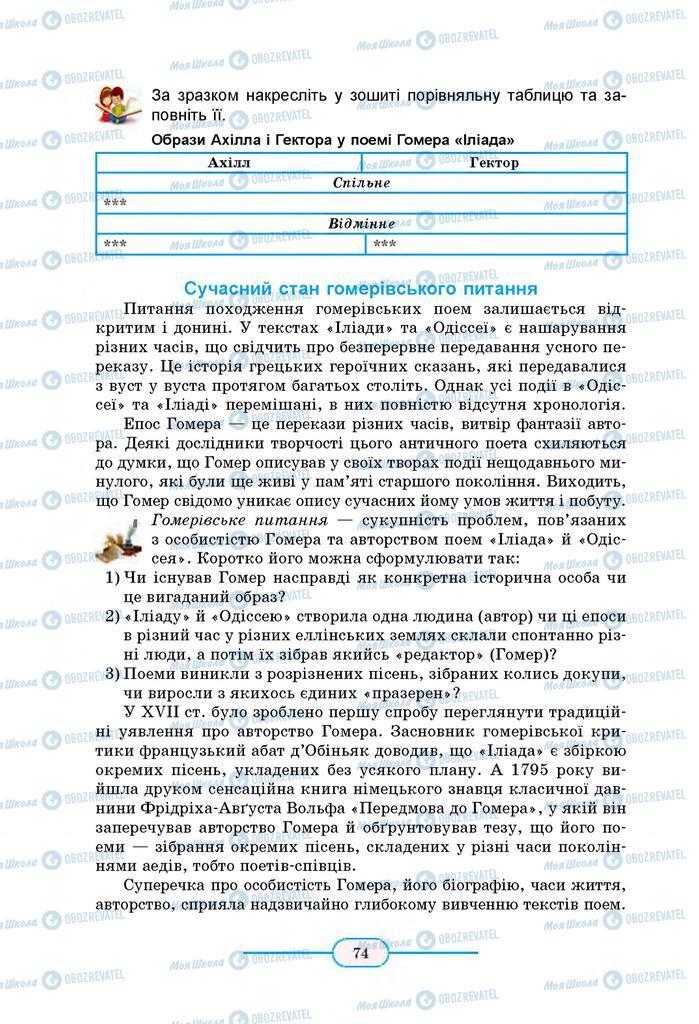 Учебники Зарубежная литература 8 класс страница 74