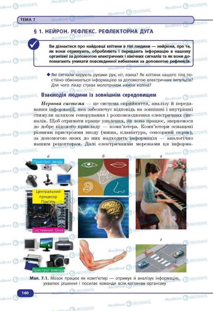 Підручники Біологія 8 клас сторінка  160