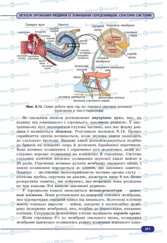 Учебники Биология 8 класс страница 201