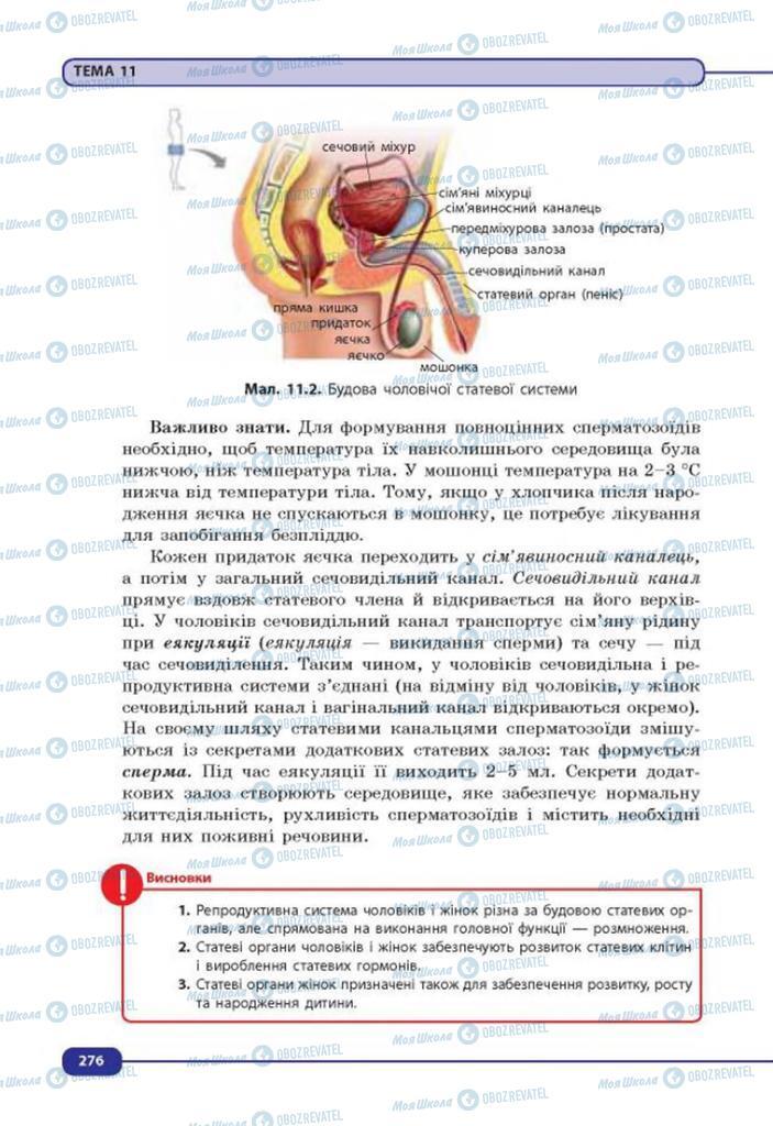 Учебники Биология 8 класс страница 276