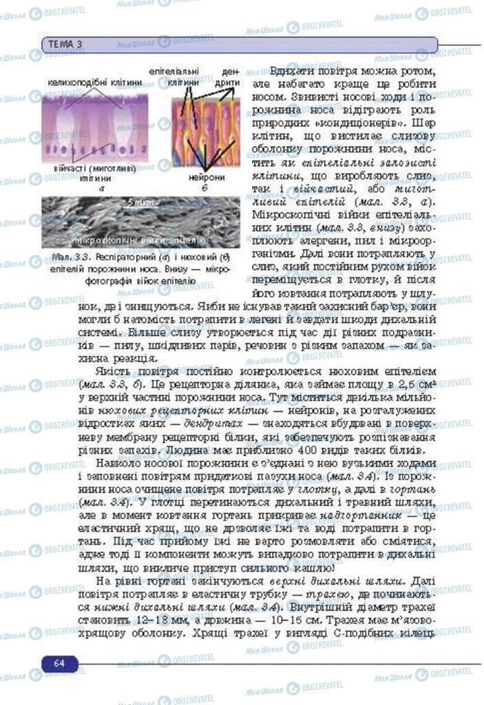 Учебники Биология 8 класс страница 64