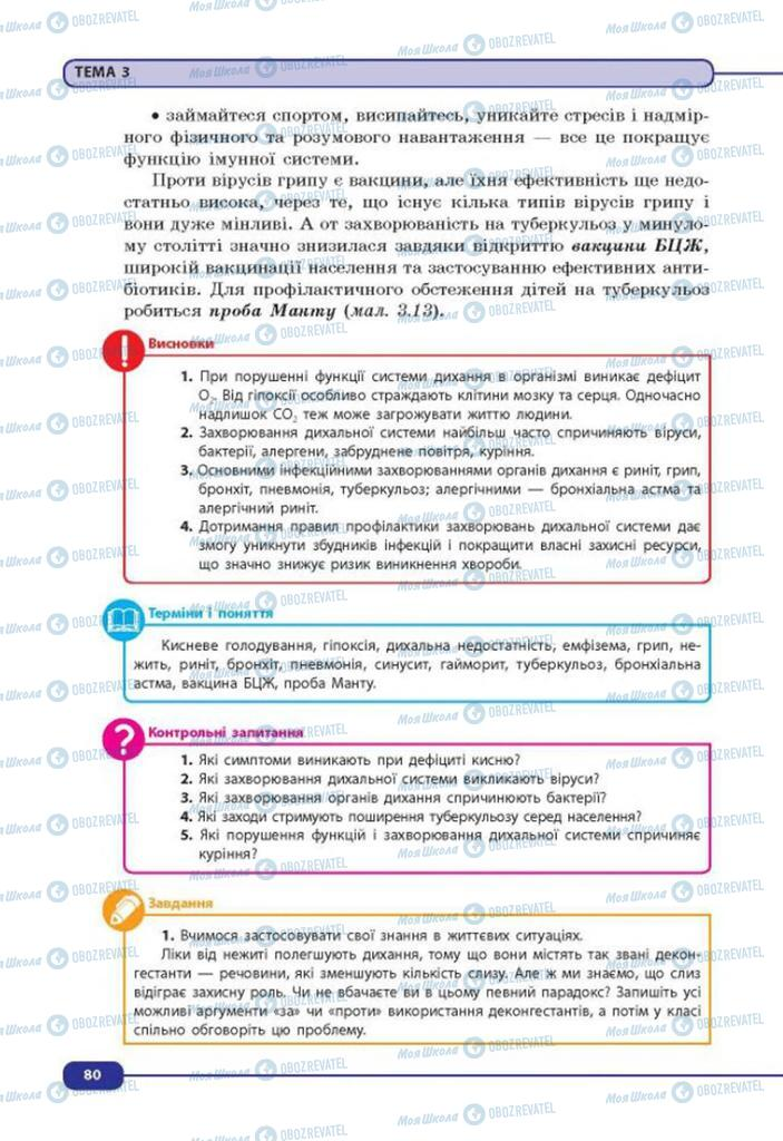 Учебники Биология 8 класс страница 80