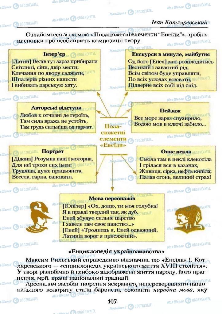 Учебники Укр лит 9 класс страница  107