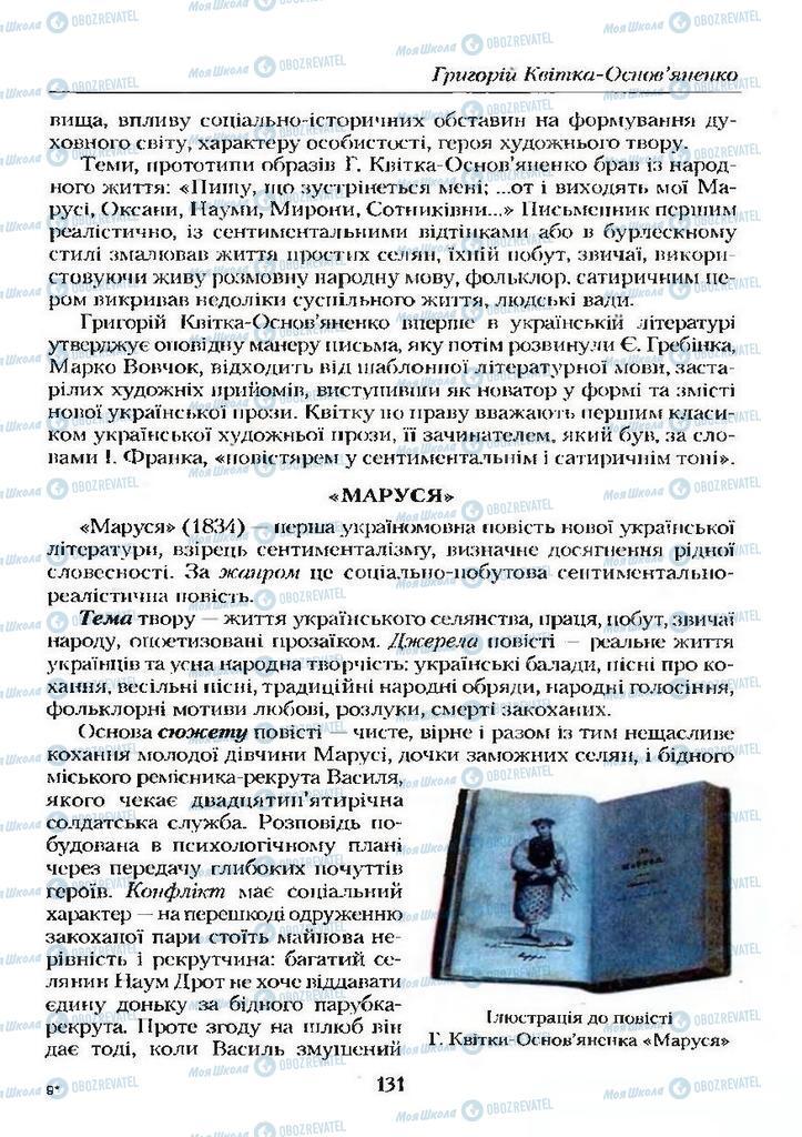 Учебники Укр лит 9 класс страница  131
