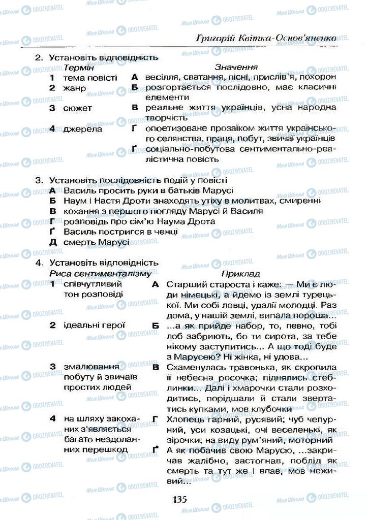 Учебники Укр лит 9 класс страница  135