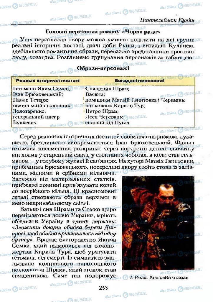 Учебники Укр лит 9 класс страница  253