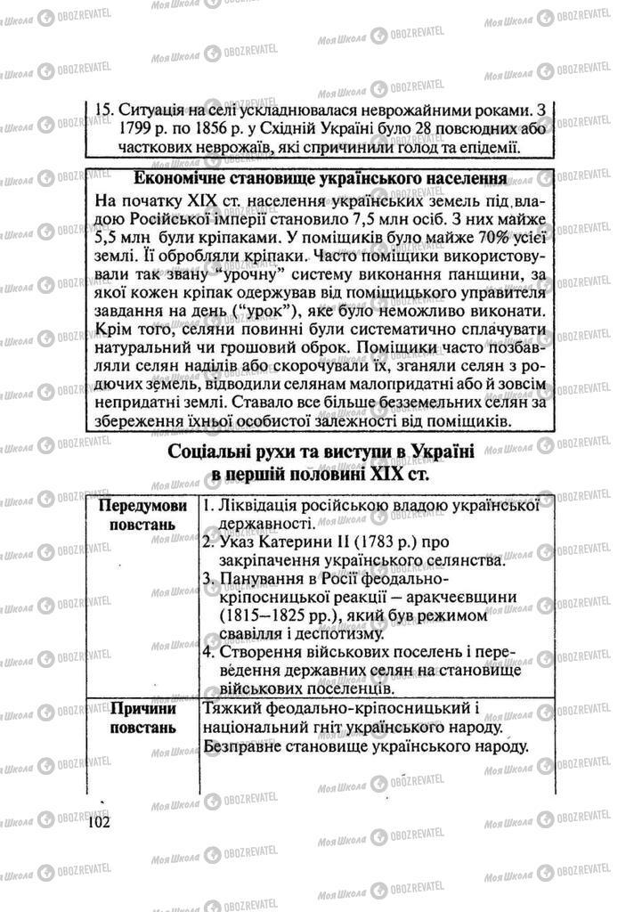 Підручники Історія України 9 клас сторінка 102