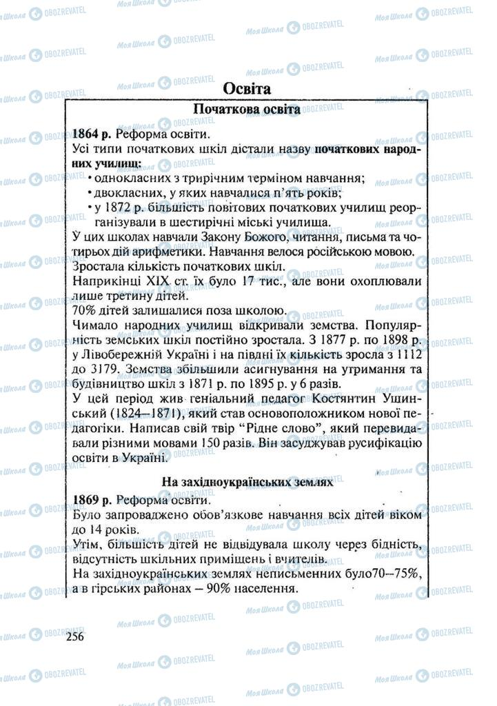 Підручники Історія України 9 клас сторінка 256