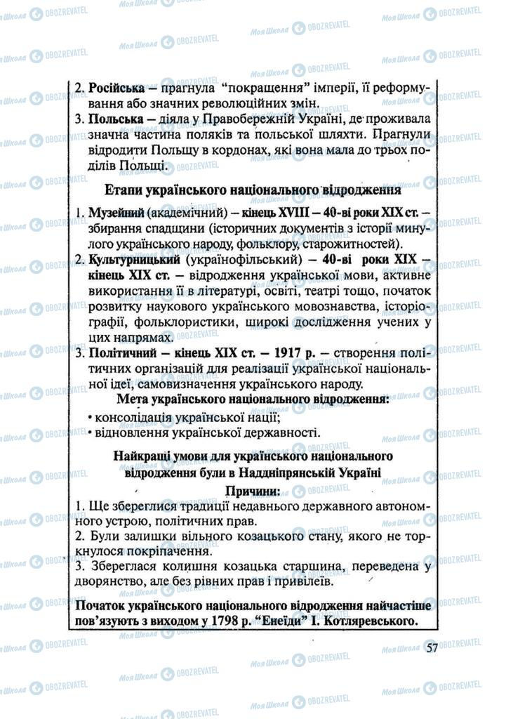 Підручники Історія України 9 клас сторінка 57