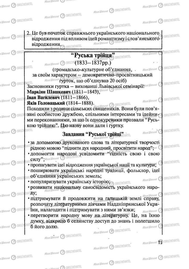 Учебники История Украины 9 класс страница 71