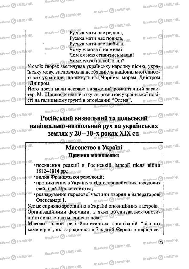 Учебники История Украины 9 класс страница 77