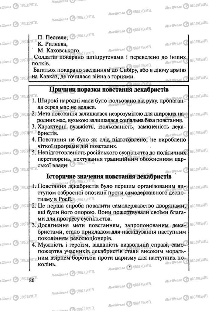 Учебники История Украины 9 класс страница 86
