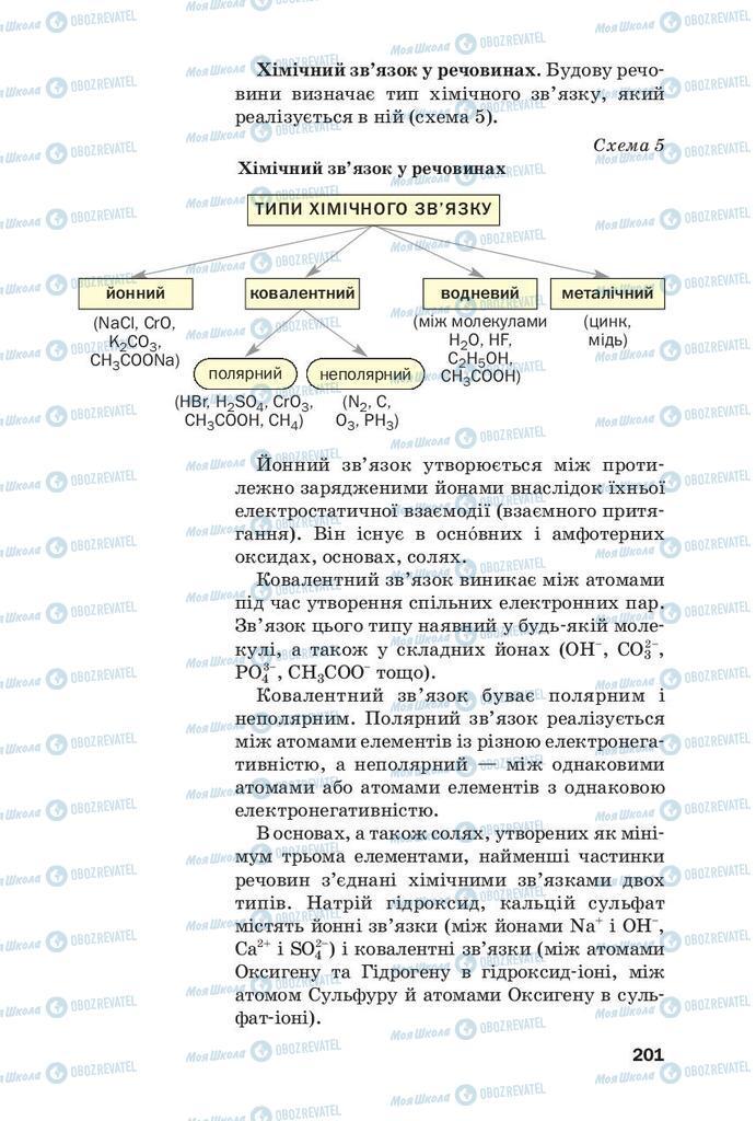 Підручники Хімія 9 клас сторінка 201